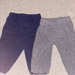 Set of two pants, size 6 months